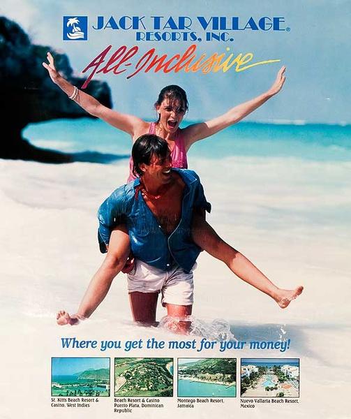 Jack Tar Village Original Caribbean Travel Poster