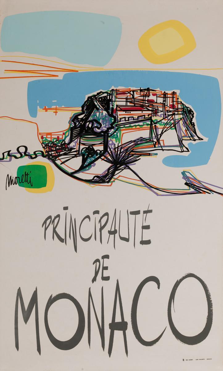 Principalite de Monaco Original Travel Poster