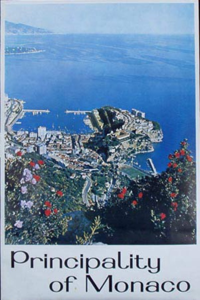 Monaco Original Vintage Travel Poster