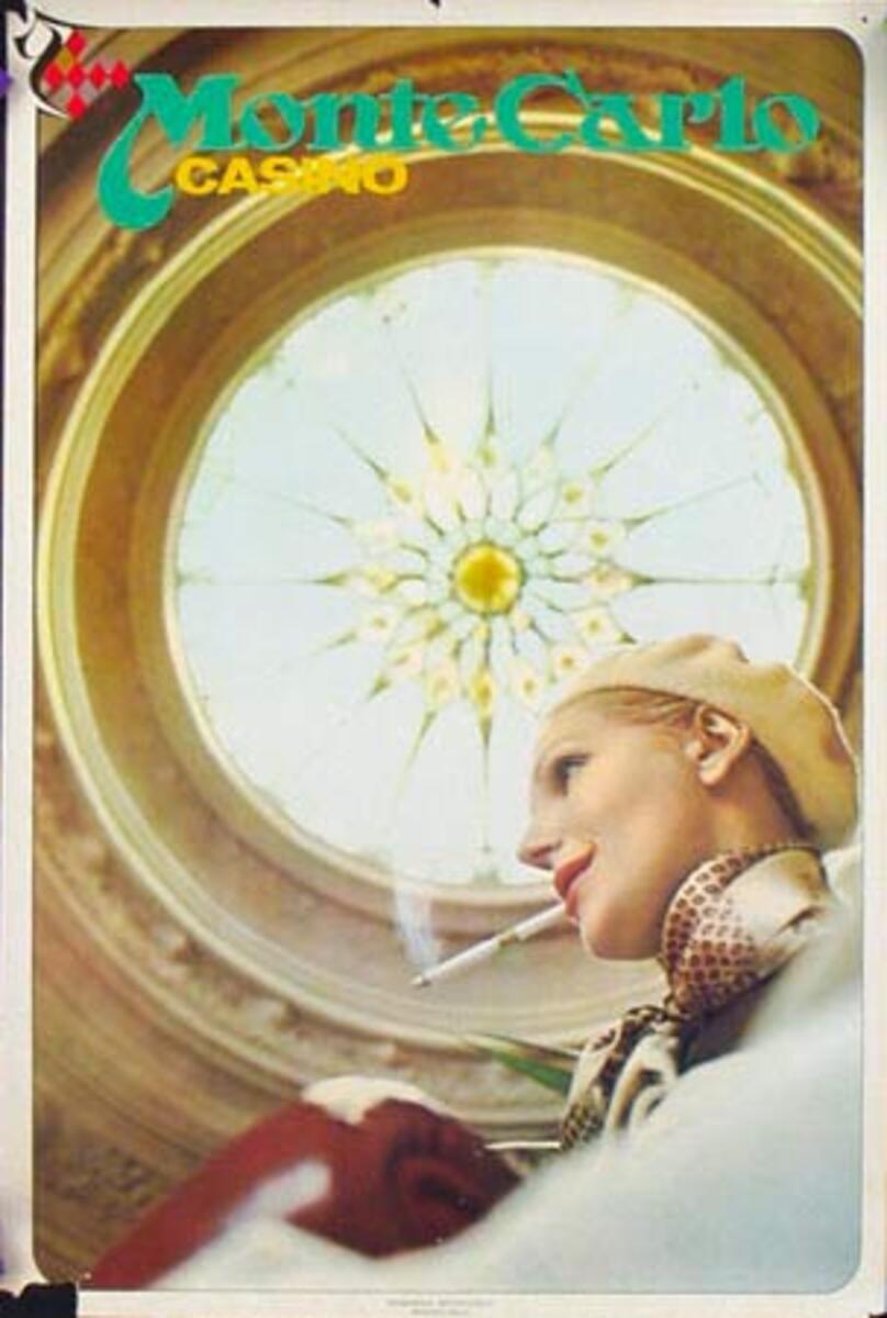 Monte Carlo Casino Original Travel Poster