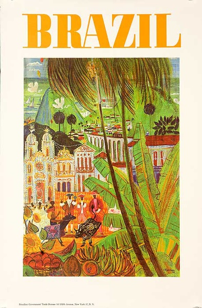 Brazil Travel and Tourism Poster