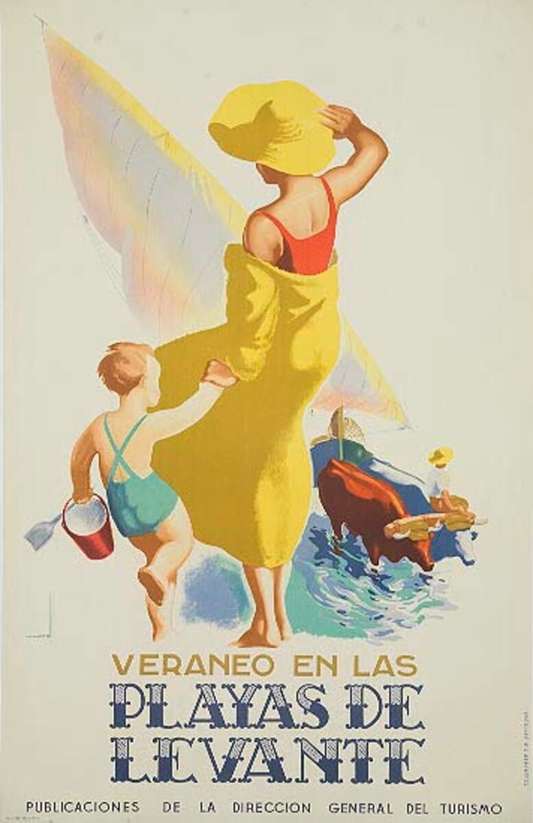 Veranos en las Playas de Levante Original Spanish Travel Poster