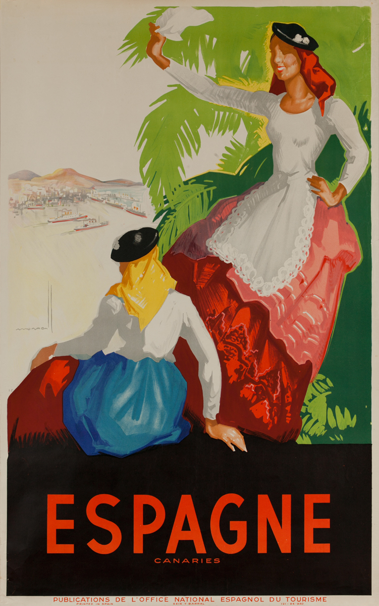 Canary Islands Spain Espagne Islas Cararies Travel Poster 2 Women