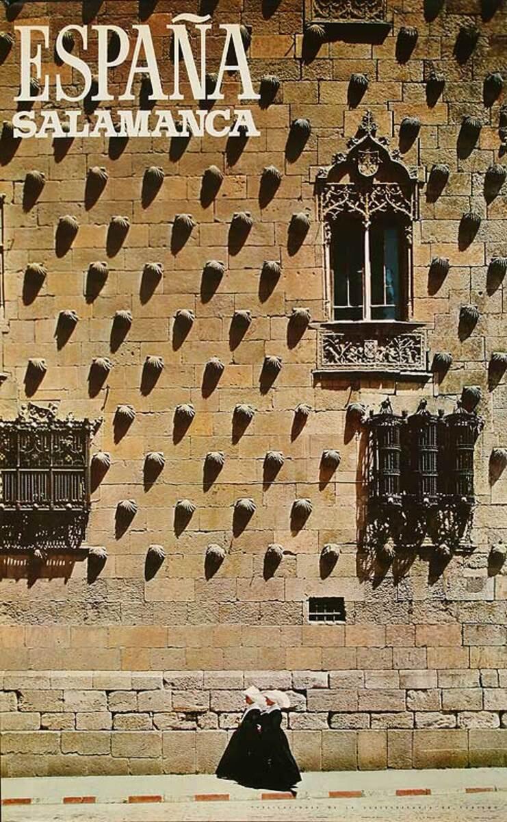 Spain Salamanca Original Vintage Travel Poster
