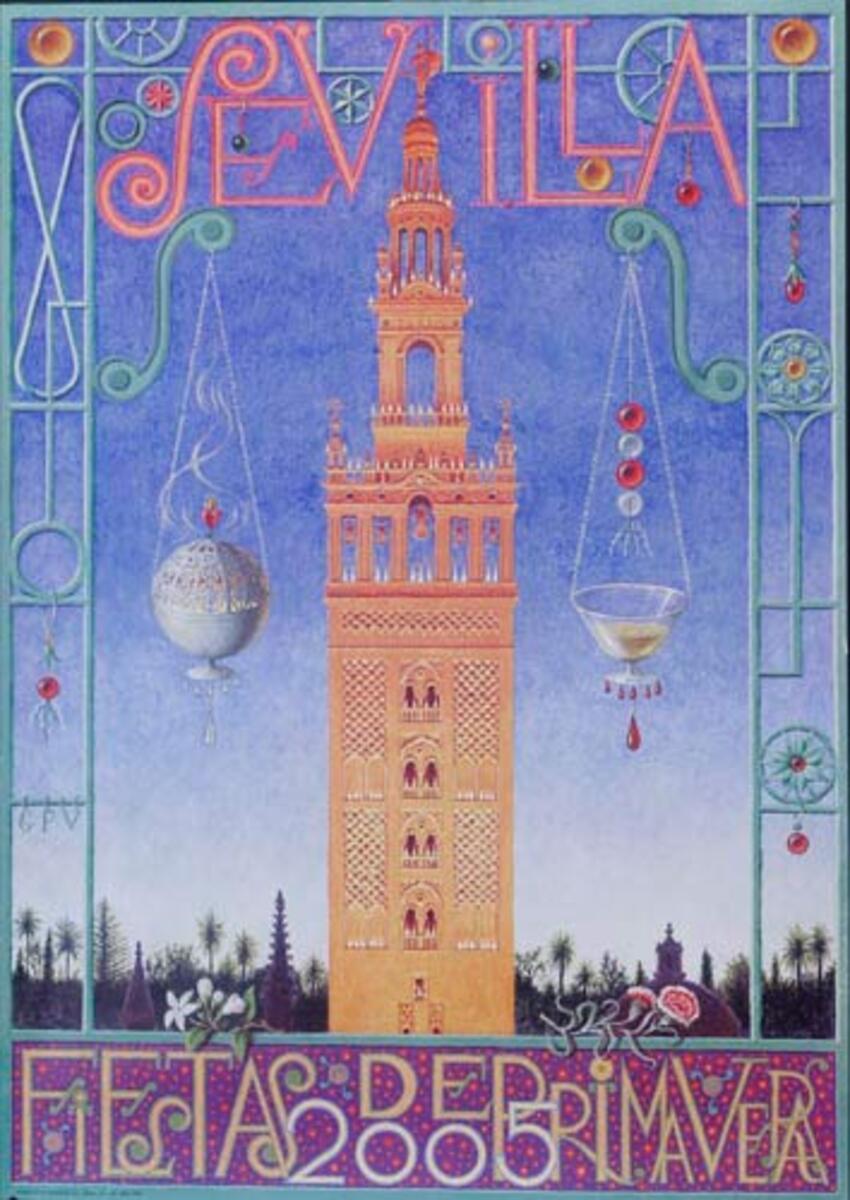 Sevilla Fiesta de Primavera Original Spanish Travel Poster