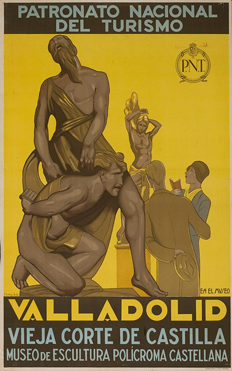 Valladolid Original Vintage Spanish Travel Poster