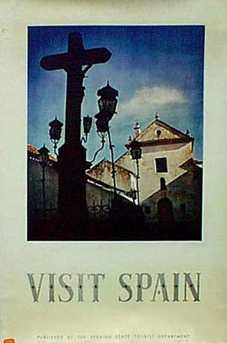 Spain Visit Spain Original Vintage Travel Poster photo