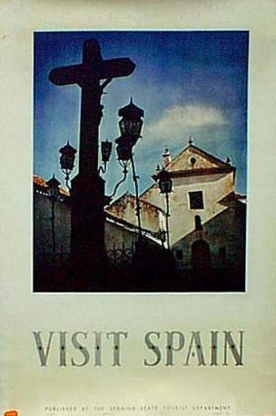 Spain Visit Spain Original Vintage Travel Poster photo