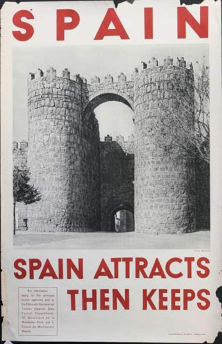 Spain Attracts Original Spanish Travel Poster