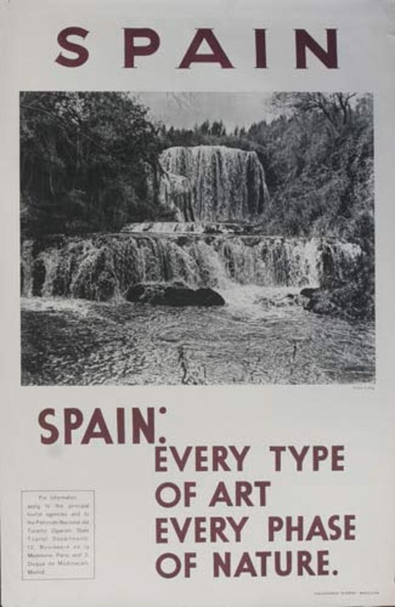 Every Type of Art Original Spanish Travel Poster