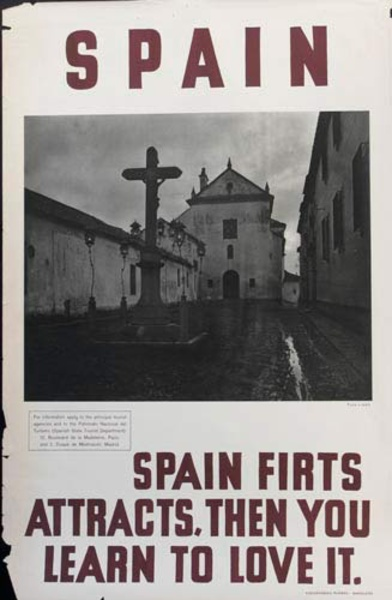 Spain First Attracts, Then You Learn to Love It  Original Spanish Travel Poster