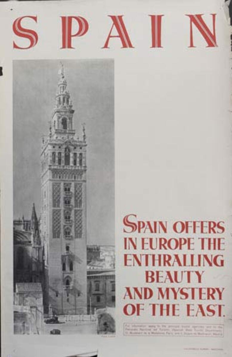 Enthralling Beauty Original Spanish Travel Poster