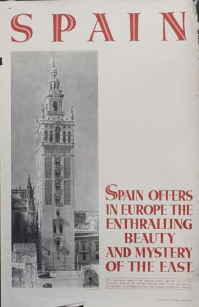 Enthralling Beauty Original Spanish Travel Poster