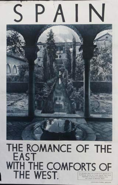 Romance of the East Comforts of the West Original Spanish Travel Poster