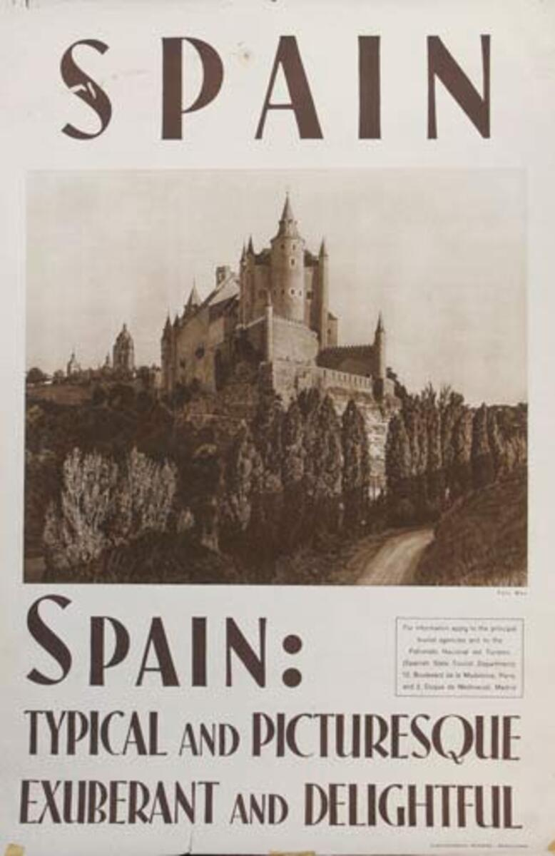 Exhuberant and Delightful Original Spanish Travel Poster