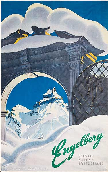 Engelberg Switzerland Original Travel Poster