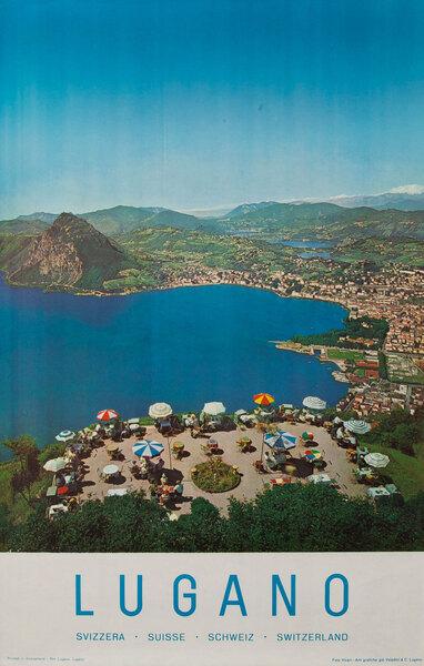 Lugano Swiss Travel Poster Daytime Photo