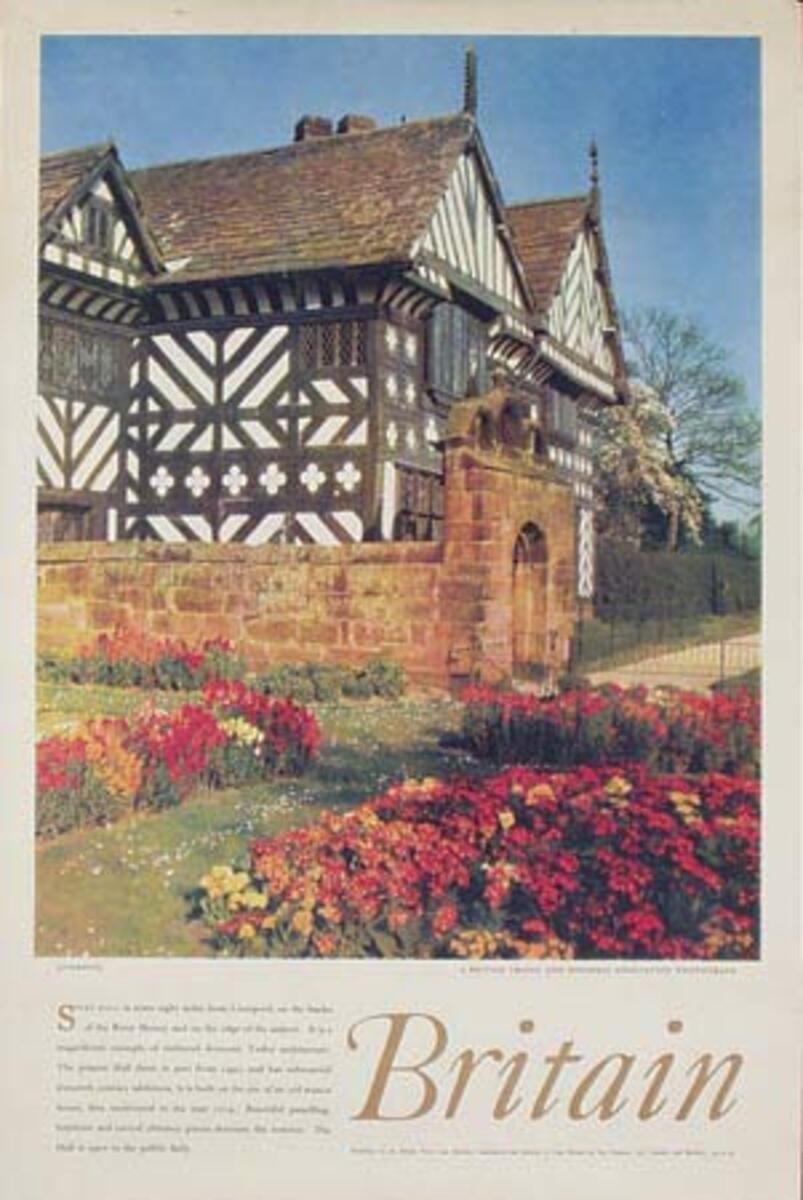 Britain Stucco House Original Travel Poster