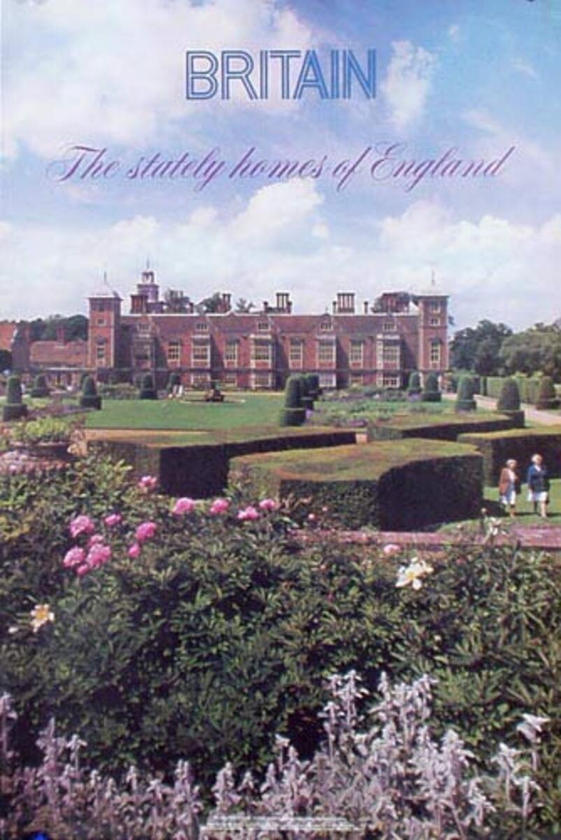 Britain Photo Original Travel Poster Stately Homes