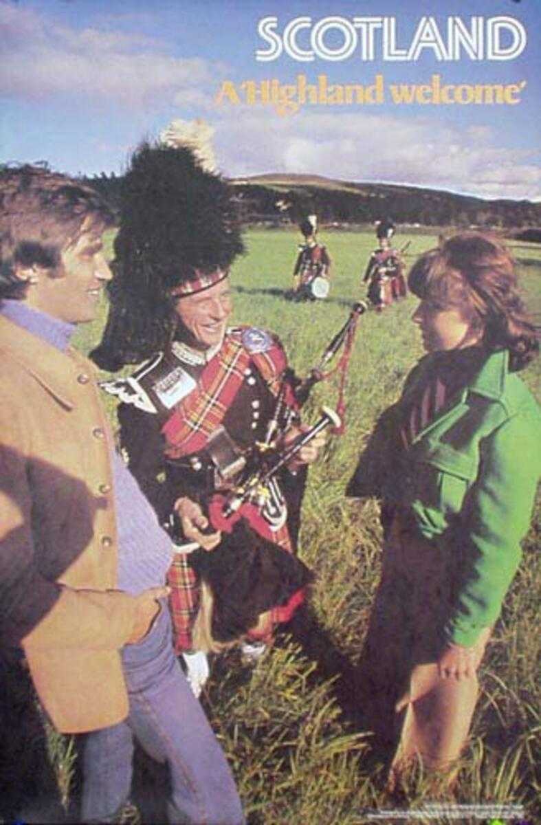 Scotland Photo Original Travel Poster Bagpiper