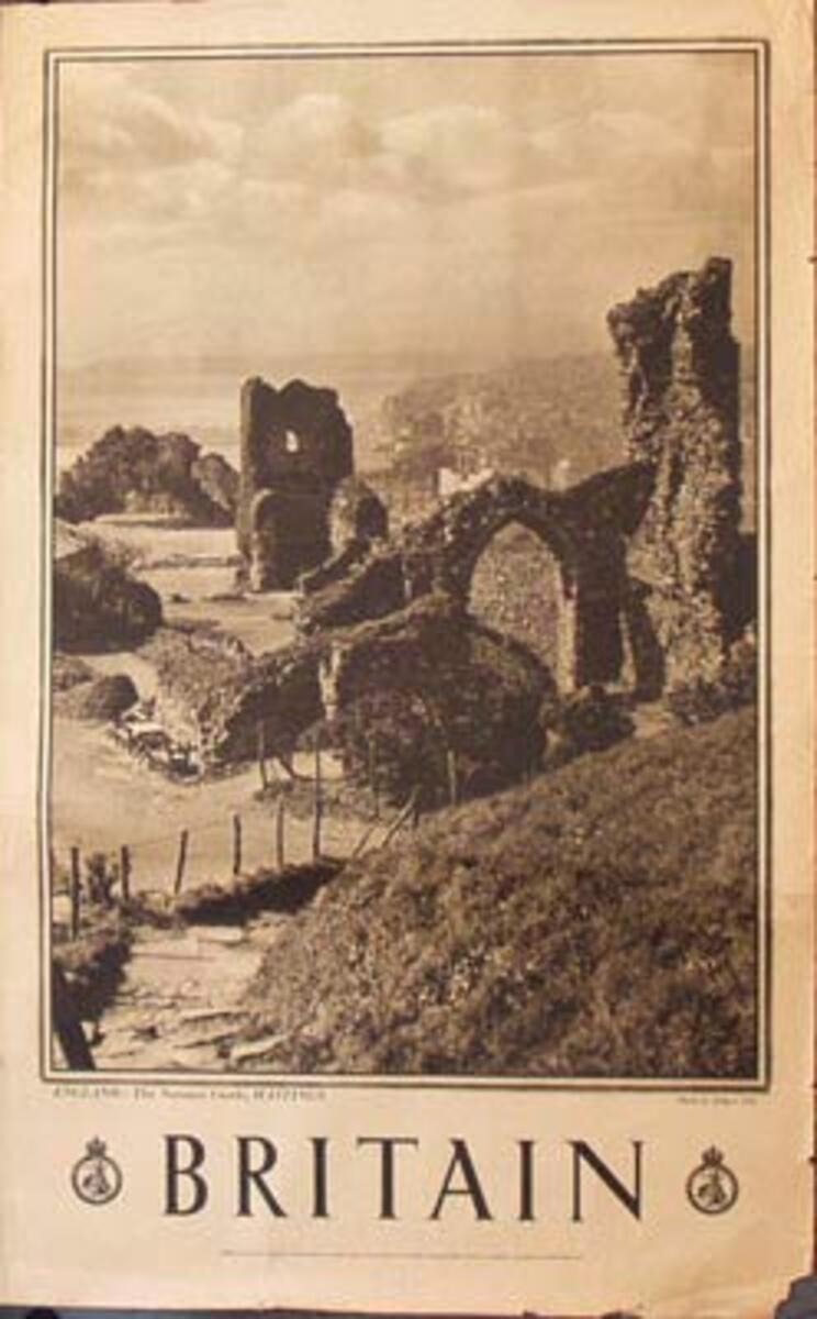 Hastings Original Vintage British Travel Poster