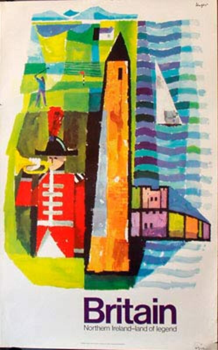 Northern Ireland Land of Legend Original Vintage British Travel Poster