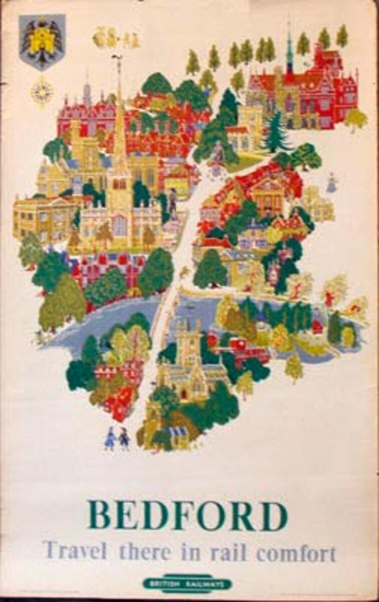 Bedford British Railways Original Vintage British Travel Poster