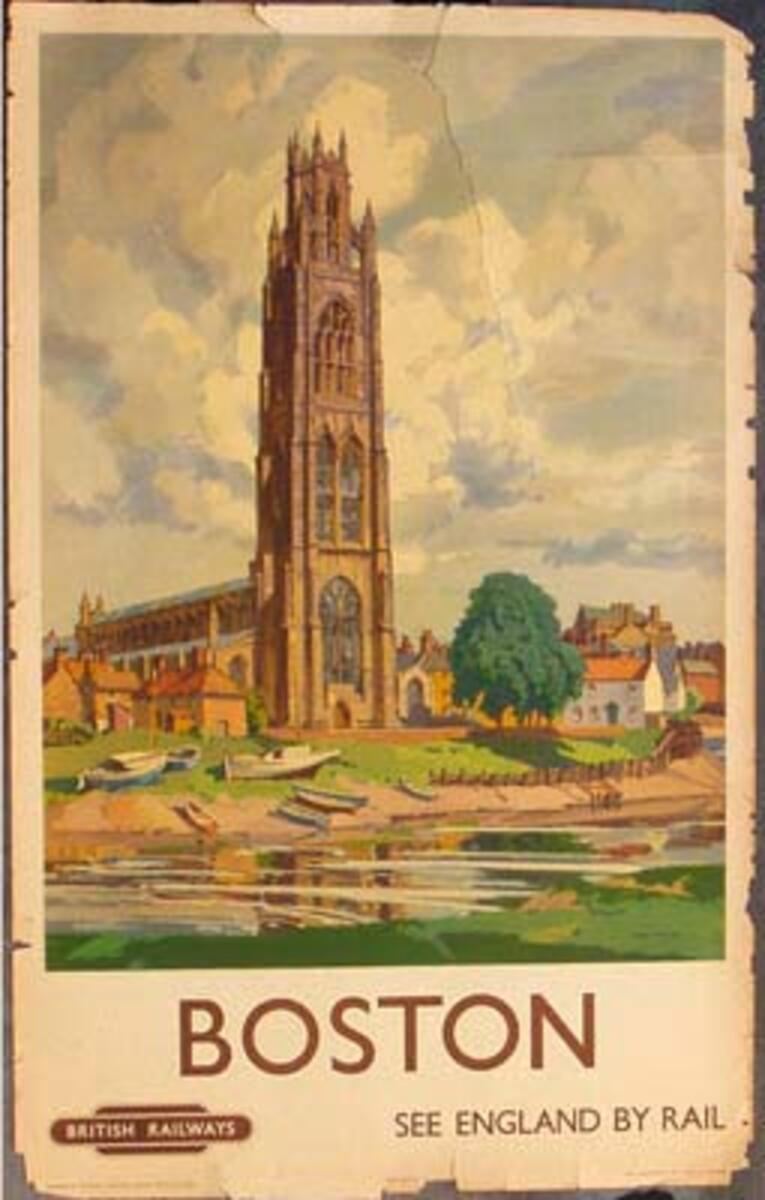 Boston British Railways Original Vintage British Travel Poster
