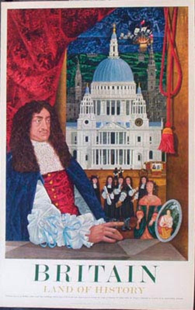 Land of History Chistopher Wren Original Vintage British Travel Poster
