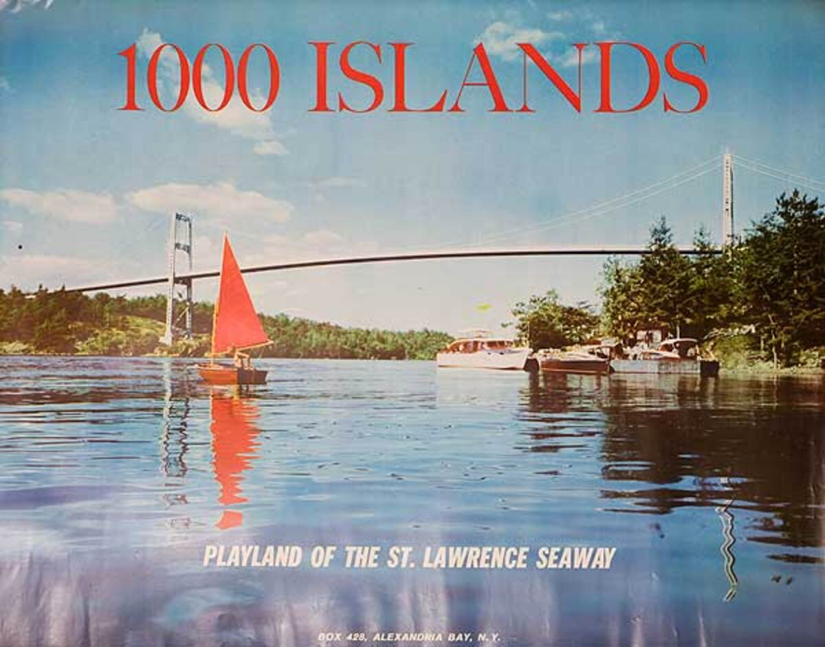 1000 Islands Playland of the St Lawrence Seaway Original Travel Poster