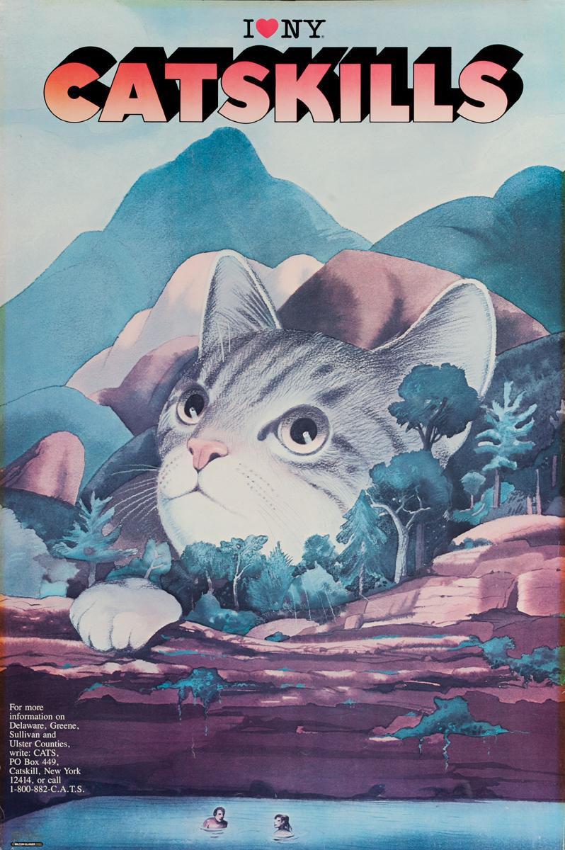 I Love NY Catskills Original Travel and Tourism Poster