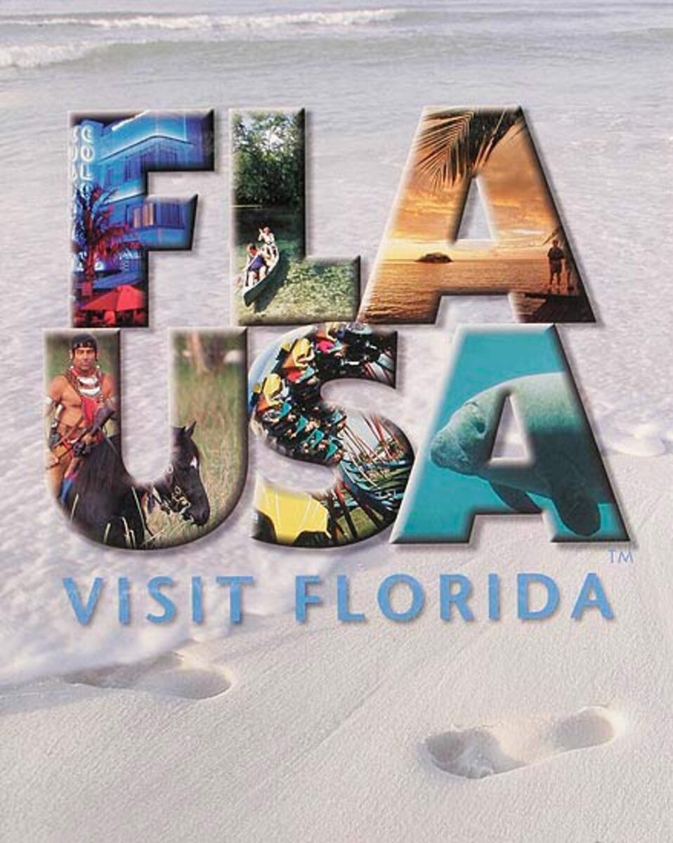 FLA USA Visit Florida Original Travel Poster