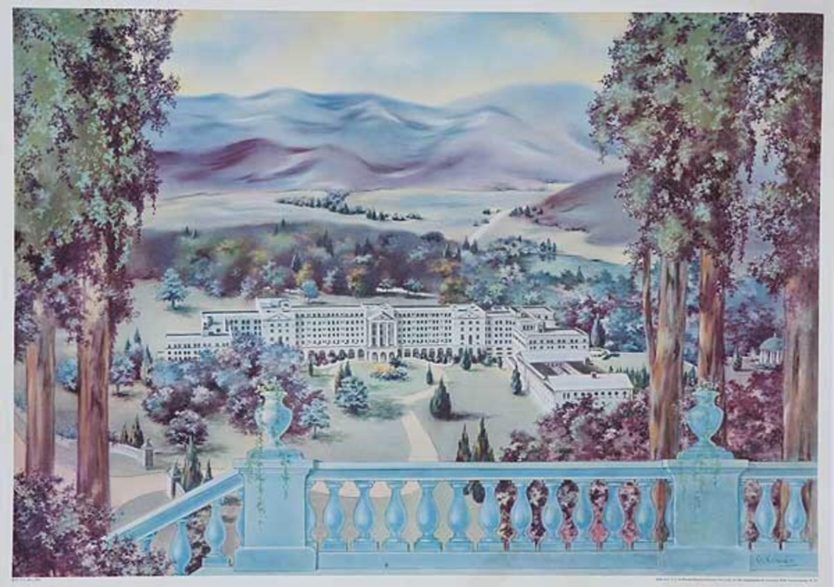 The Greenbriar Hotel Original Advertising Poster
