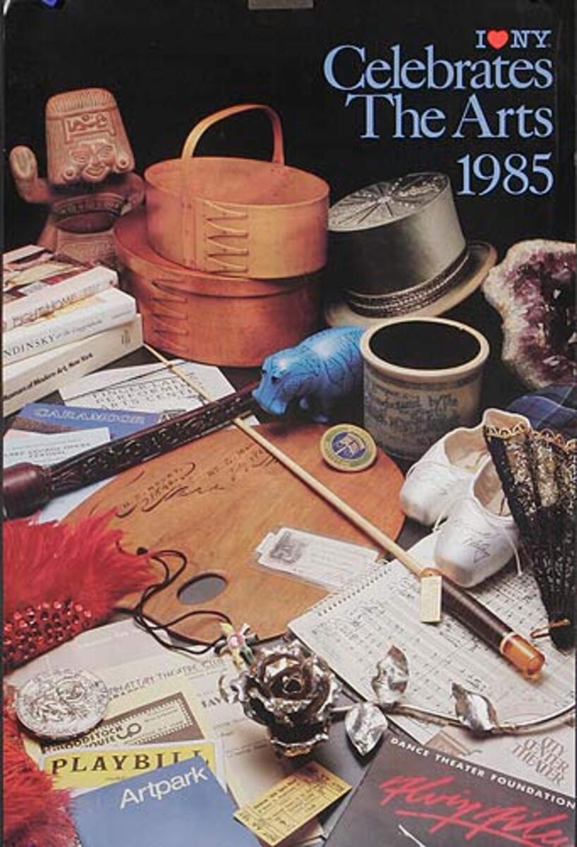 I Love NY Celebrates the Arts 1985 Original Travel Poster