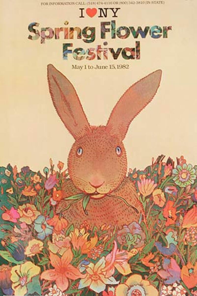 I Love NY Spring Flower Festival Original Travel Poster