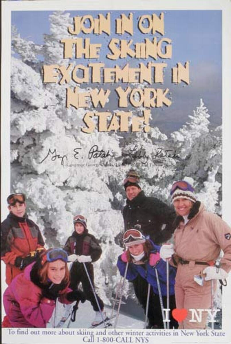 I Love NY Celebrates Join in on the Skiing Excitement Original Travel Poster