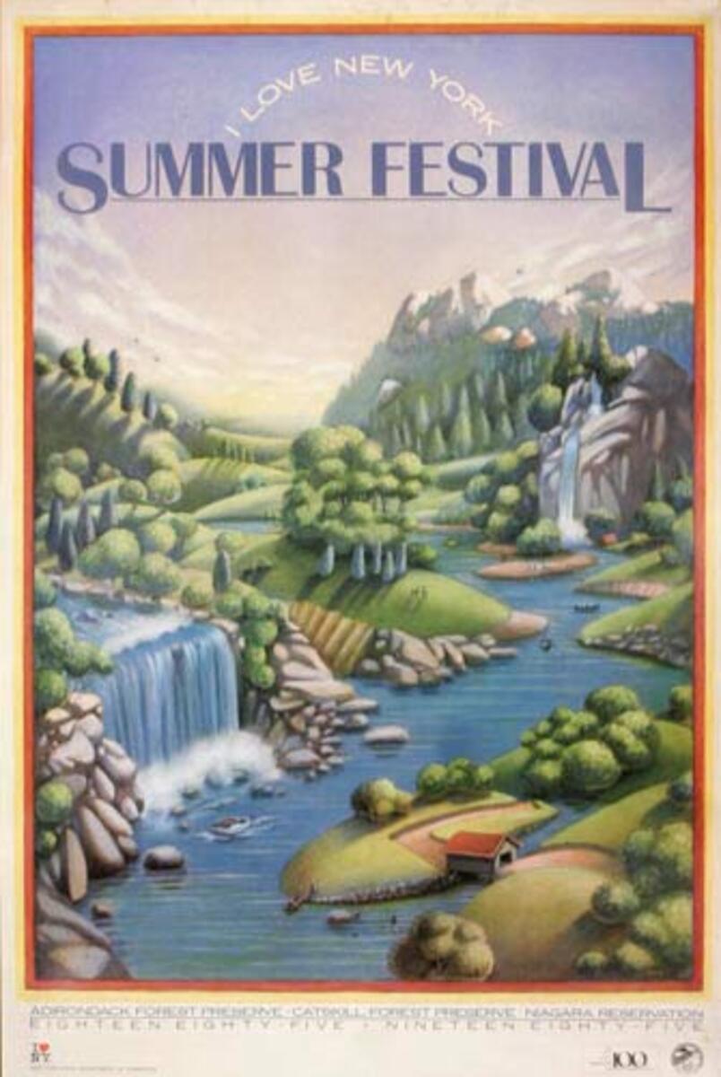 I Love NY Celebrates Summer Festival Original Travel Poster