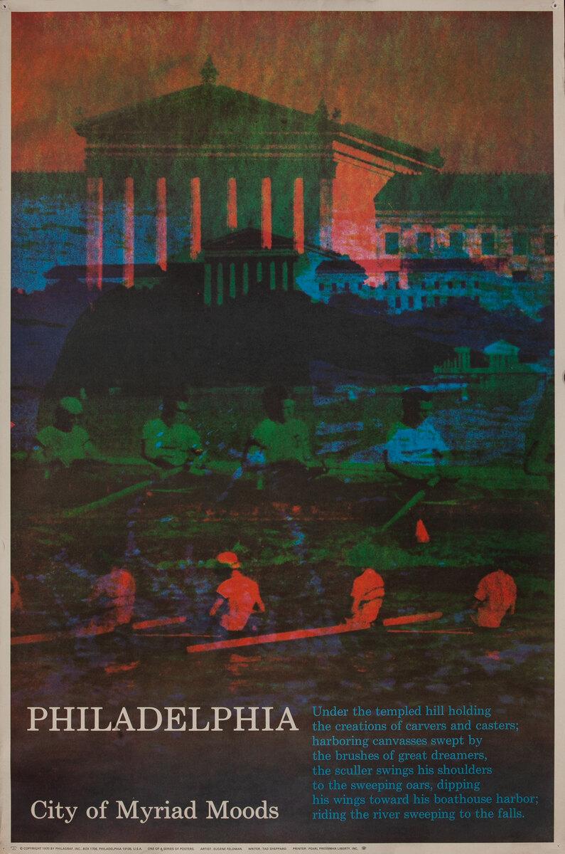 Philadelphia Pennsylvania Myriad Moods US Travel Poster