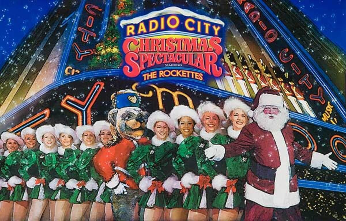 Radio City Christmas Spectacular The Rockettes Original New York Advertising Poster