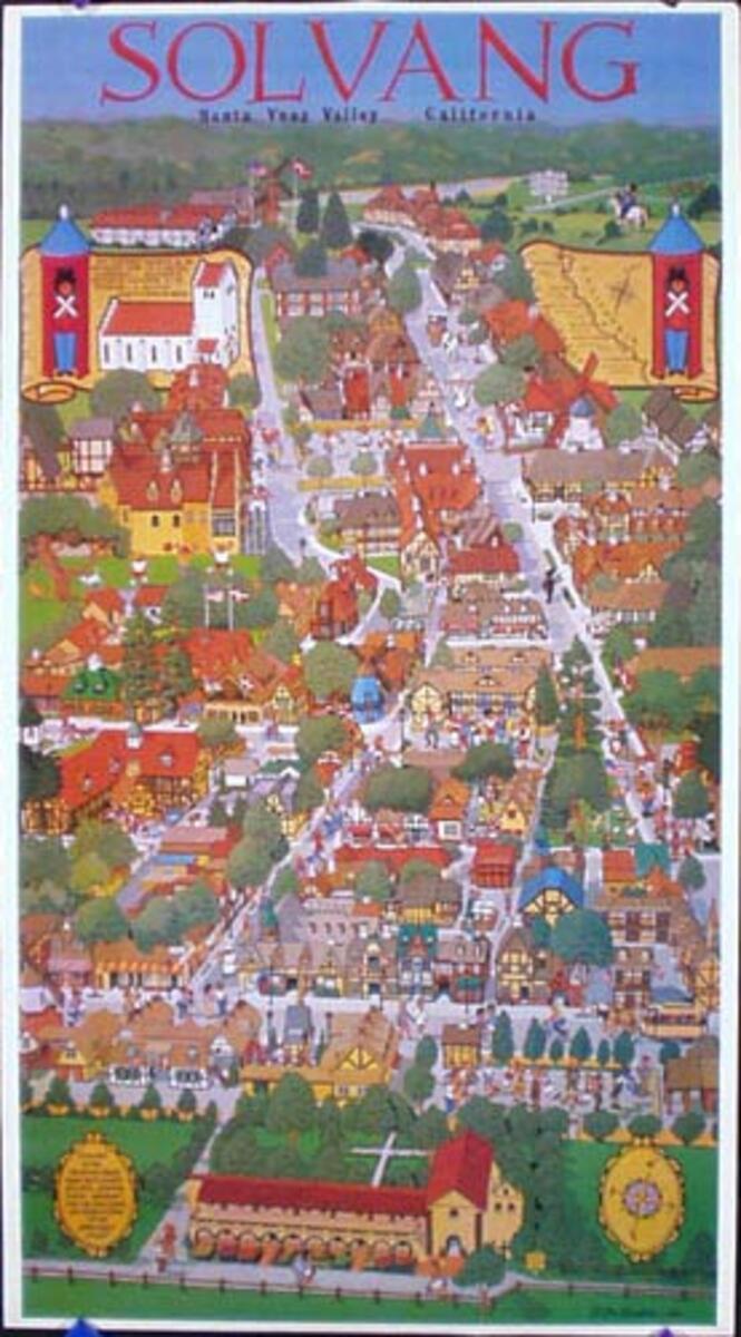 Solvang California Original Travel Poster