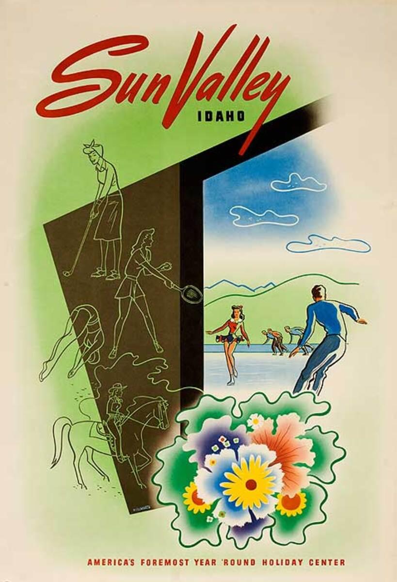 Sun Valley Idaho Original Ski Poster  All Year Round