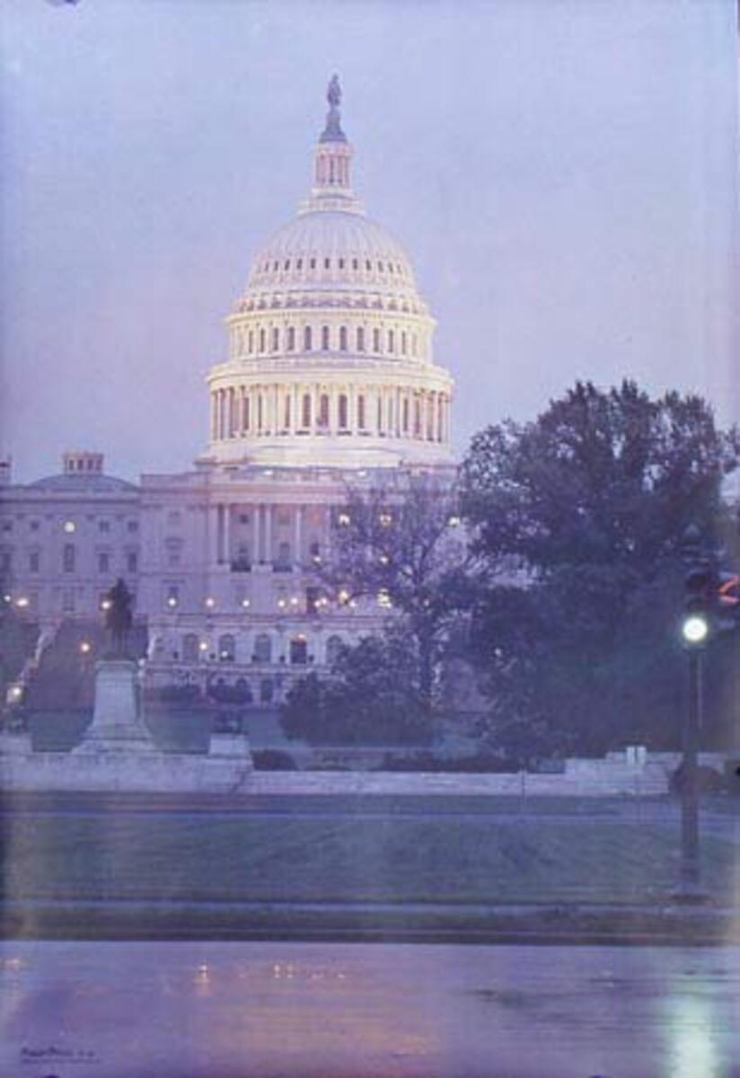 Washington DC Original Vintage Travel Poster