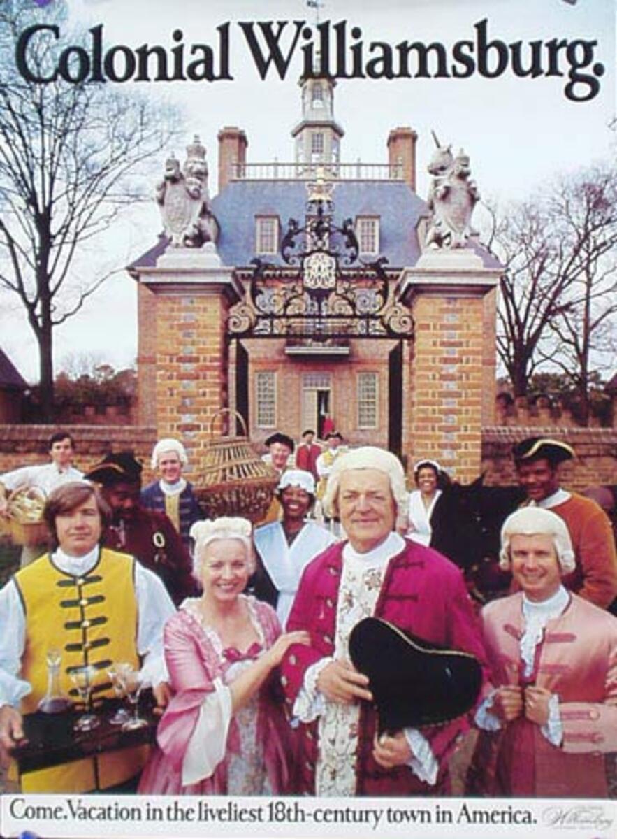 Williamsburg Virginia Travel Poster Costumed enactors