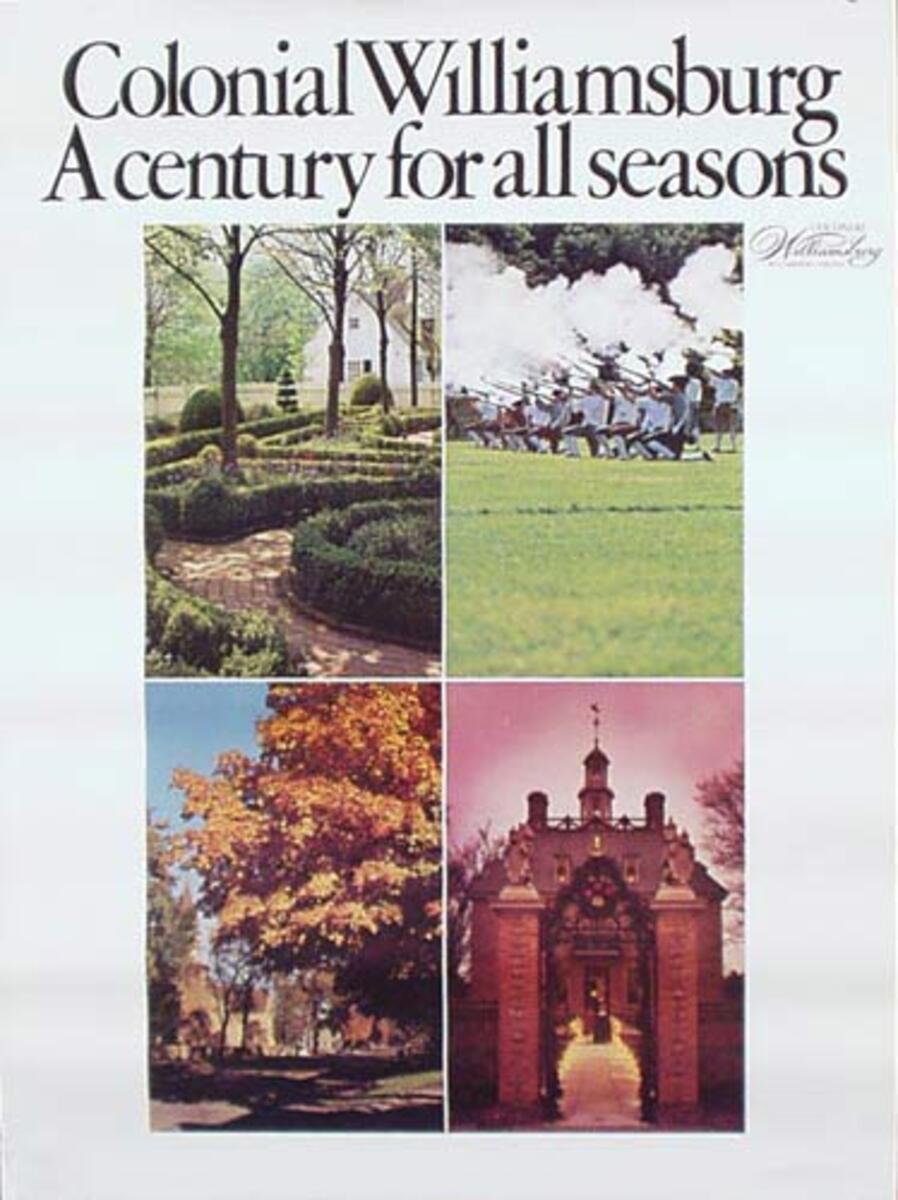 Williamsburg Virginia Travel Poster various scenes