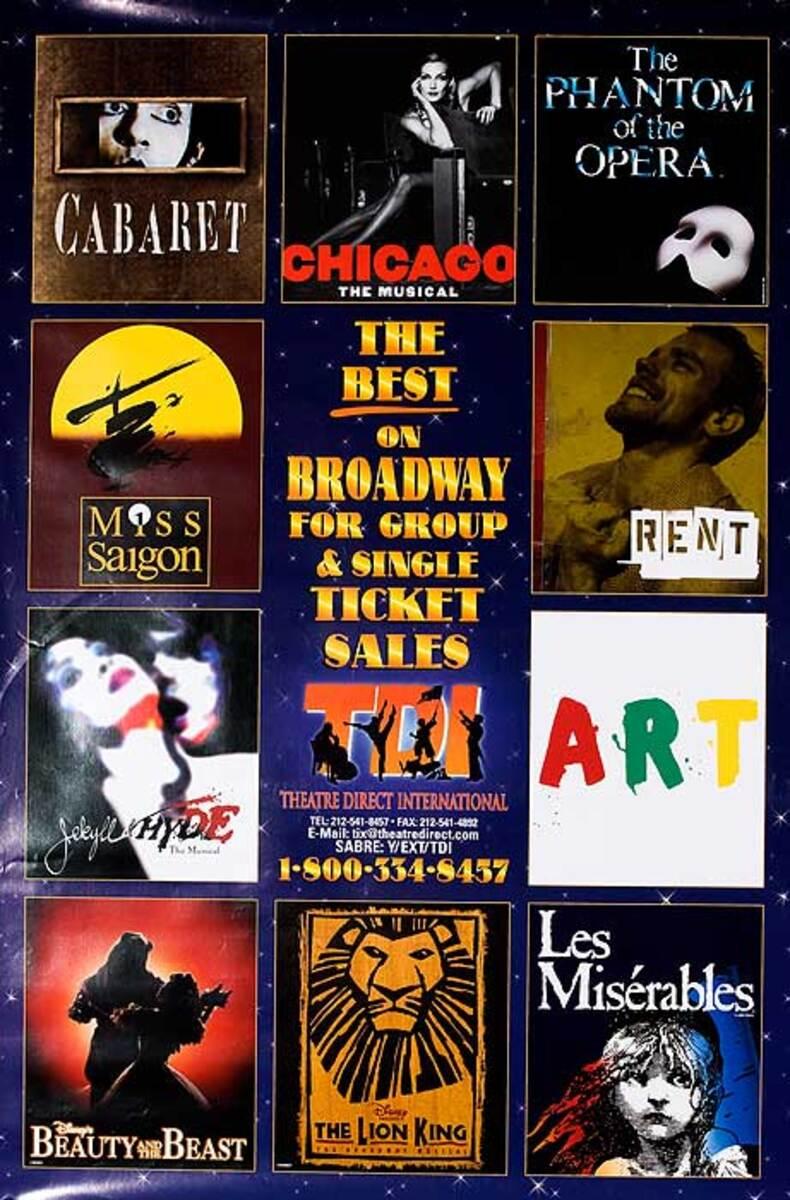 The Best of Broadway Original Theatre Poster