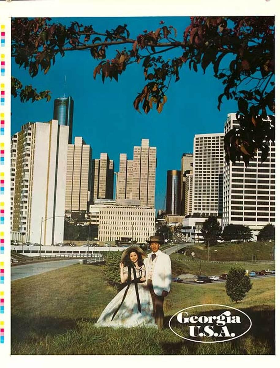 Georgia USA Original Travel Poster Southern Couple