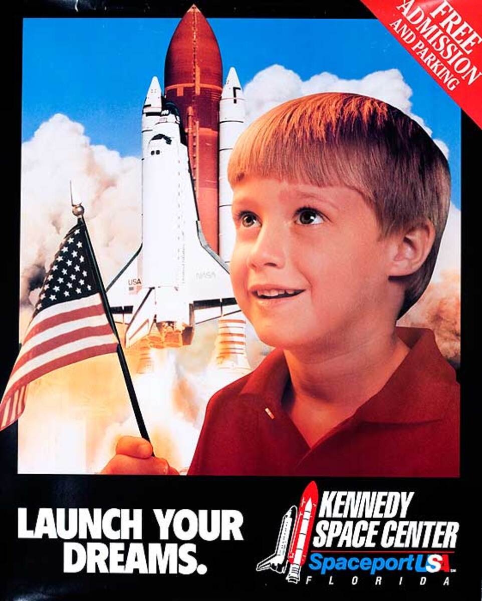 Kennedy Space Center Original Travel Poster