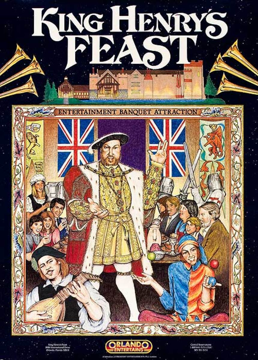 King Henry's Feast Original Travel Poster