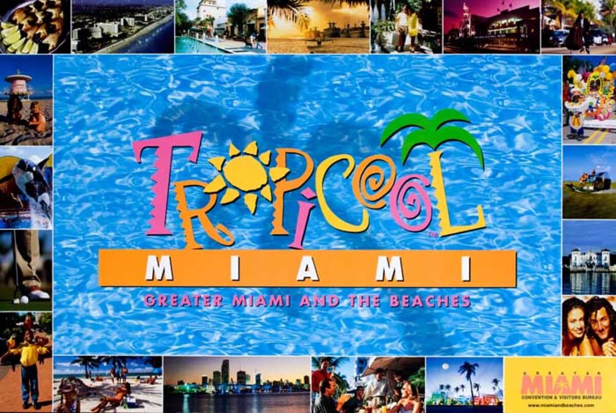 Tropical Miami Original Florida Travel Poster