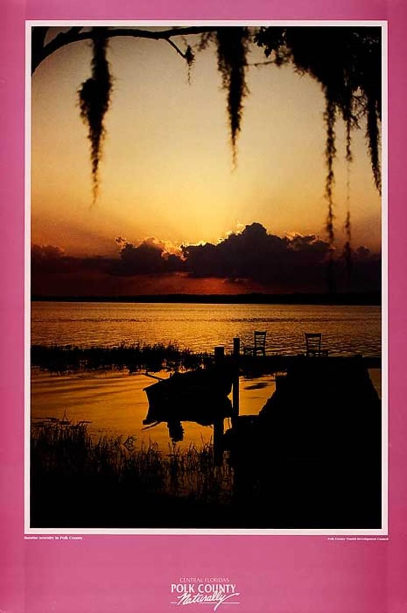 Polk County Georgia Original Travel Poster Sunset